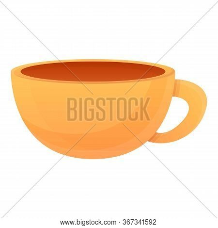 Ceramic Tea Cup Icon. Cartoon Of Ceramic Tea Cup Vector Icon For Web Design Isolated On White Backgr