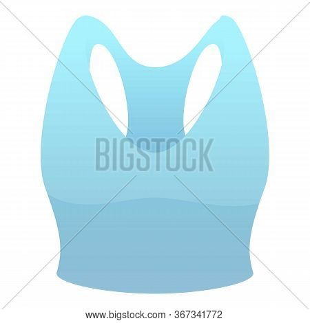 Fitness Bra Icon. Cartoon Of Fitness Bra Vector Icon For Web Design Isolated On White Background