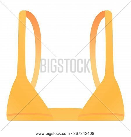 Girl Bra Icon. Cartoon Of Girl Bra Vector Icon For Web Design Isolated On White Background