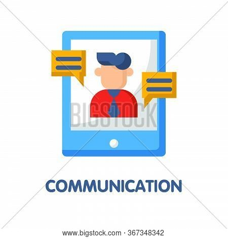 Communication  Flat Icon Style Design Illustration On White Background