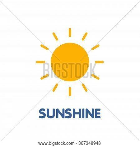 Sunshine Flat Icon Design Style Illustration On White Background