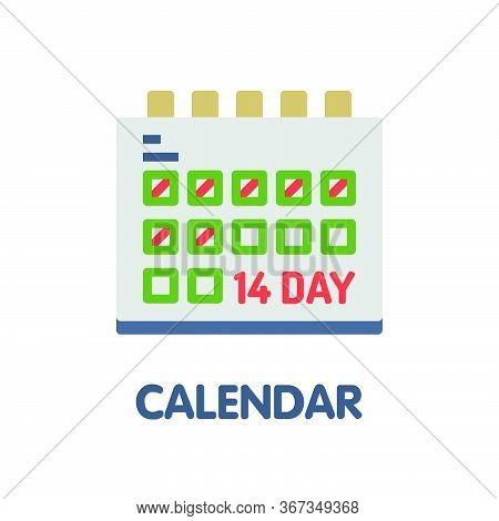 Calendar  Flat Icon Style Design Illustration On White Background