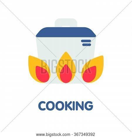 Cooking Flat Icon Style Design Illustration On White Background