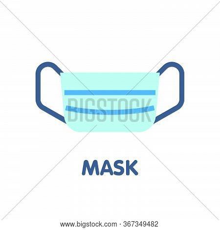 Mask  Flat Icon Style Design Illustration On White Background