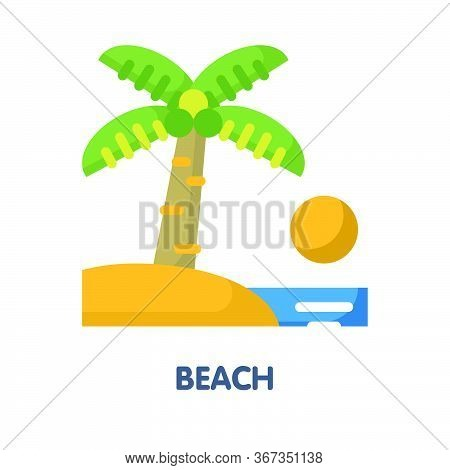 Beach Sea Flat Icon Design