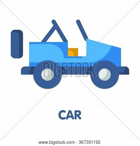26042020 - Jeep Car Flat Icon Vector Design Illustration On White Background