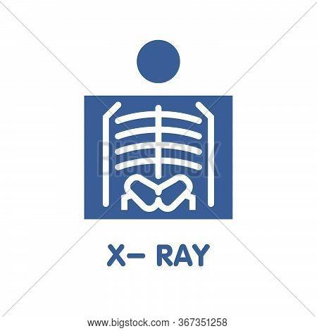 Icon X-ray  Flat Style Icon Design  Illustration On White Background Eps.10