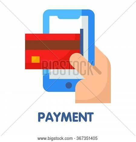 Payments  Flat Style Icon Design  Illustration On White Background