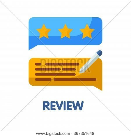 Review  Flat Style Icon Design  Illustration On White Background