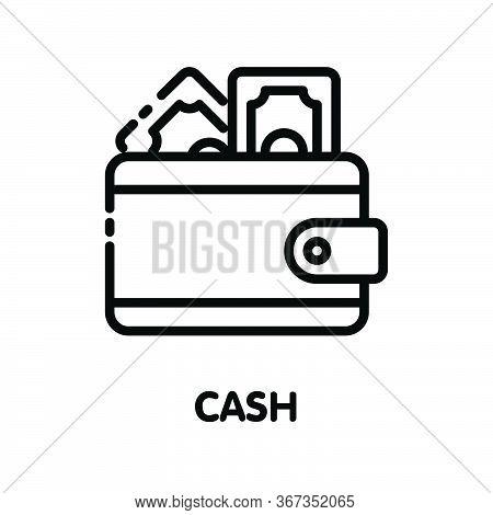 Icon Money Cash  Outline Style Icon Design  Illustration On White Background