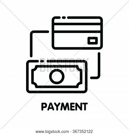Icon Payment Outline Style Icon Design  Illustration On White Background