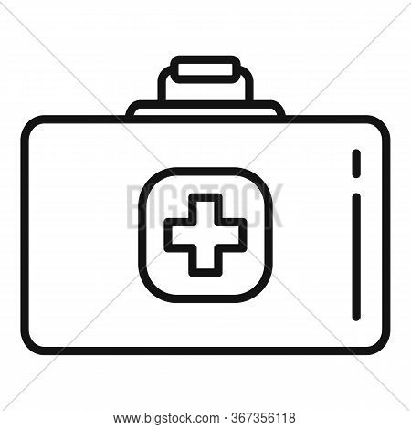 Medical Kit Icon. Outline Medical Kit Vector Icon For Web Design Isolated On White Background