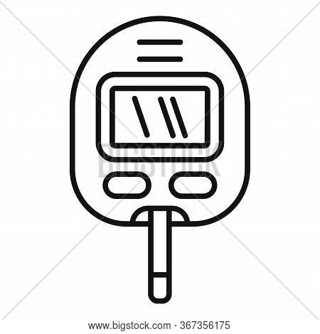 Glucose Meter Icon. Outline Glucose Meter Vector Icon For Web Design Isolated On White Background