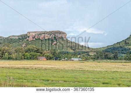 Ficksburg, South Africa - March 20, 2020: View Of The Kommandonek Railway Station Between Fouriesbur