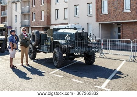 Fecamp, France - Seprember 1, 2019: This Is An International M-1-4 Car At The Exhibition Of Military