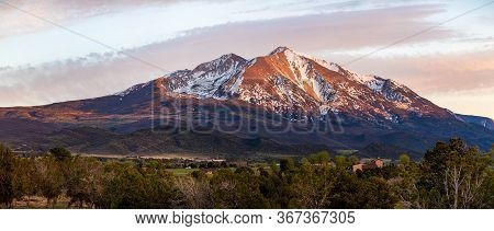 Beautiful View Of Mountain Sopris Aspen Glen Colorado