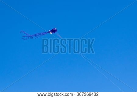 Purple Kite In A Clear Blue Sky