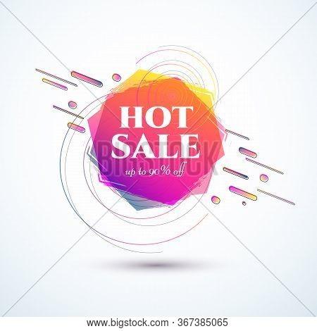 Banner Hot Sale 90 Off Bright Duotone Gradient Banner For Web Stores Shop Online Sale Sticker Promo