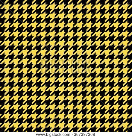 Goose Foot. Pattern Of Crows Feet In Black And Yellow Cage. Glen Plaid. Houndstooth Tartan Tweed. Do