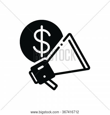 Black Solid Icon For Business-advertising  Business Advertising  Advertisement Blurb