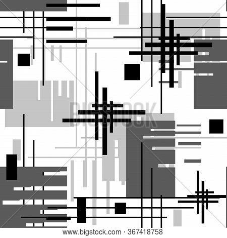 Seamless Geometric Stripes Lines Stroke Textile Print Pattern Background