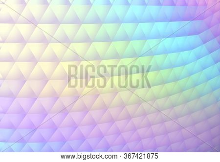 Stylish Hologram Background In 90s Vaporwave Style With Abstract