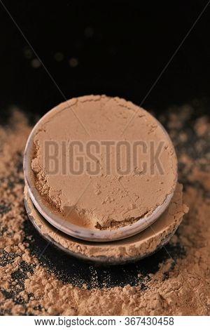 Amla Powder Ayurvedic Alternative Medicine. Indian Herbs For Beauty.amla Powder In Ceramic Cups On A