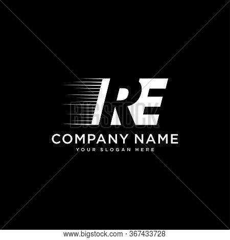 Initial Letter Re Logo Design Template Vector