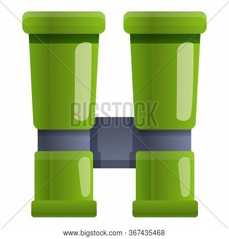 Safari Binoculars Icon. Cartoon Of Safari Binoculars Vector Icon For Web Design Isolated On White Ba