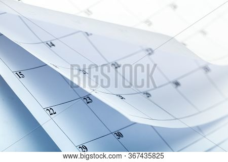 Abstract Blur Page Calendar Flipping Sheet Close Background