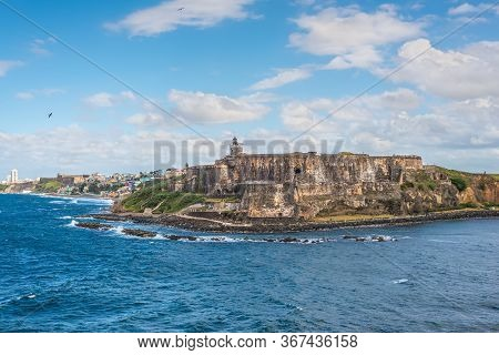 View Of El Morro Fortress In San Juan, Puerto Rico