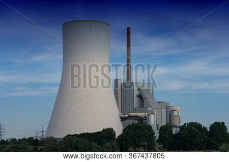 Power Plant Walsum In Duisburg-walsum. The Coal-fired Power Plant Is Located On The Site Of The Form