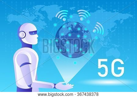 5g Network Wireless Systems And Internet Of Things, Smart City And Communication Network. 5g Wireles