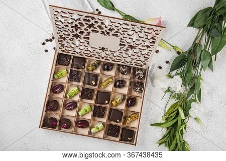Assorted Handmade Sweets. Packed In A Beautiful Wooden Box.