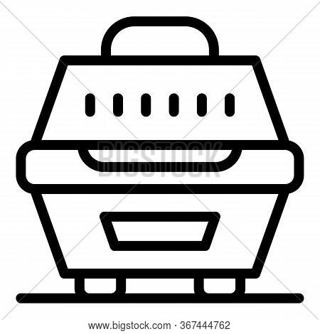 Dog Puppy Box Icon. Outline Dog Puppy Box Vector Icon For Web Design Isolated On White Background