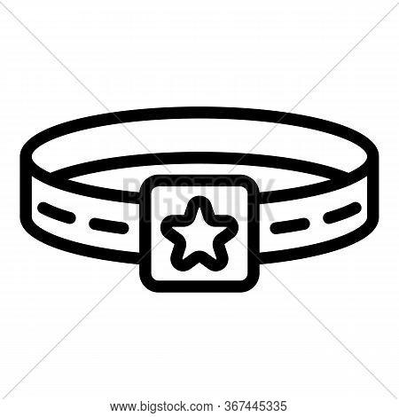 Star Dog Belt Icon. Outline Star Dog Belt Vector Icon For Web Design Isolated On White Background