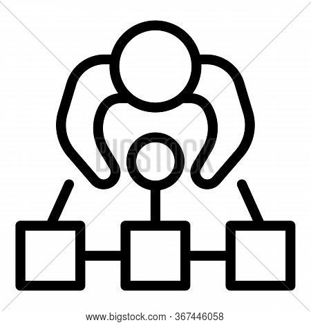 Personal Guard Position Icon. Outline Personal Guard Position Vector Icon For Web Design Isolated On