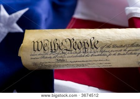 United States Of America Constitution Scroll