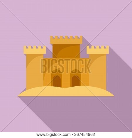 Desert Sand Castle Icon. Flat Illustration Of Desert Sand Castle Vector Icon For Web Design