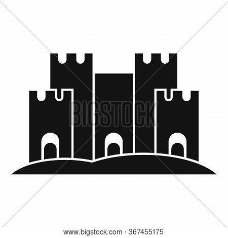 Castle Of Sand Icon. Simple Illustration Of Castle Of Sand Vector Icon For Web Design Isolated On Wh