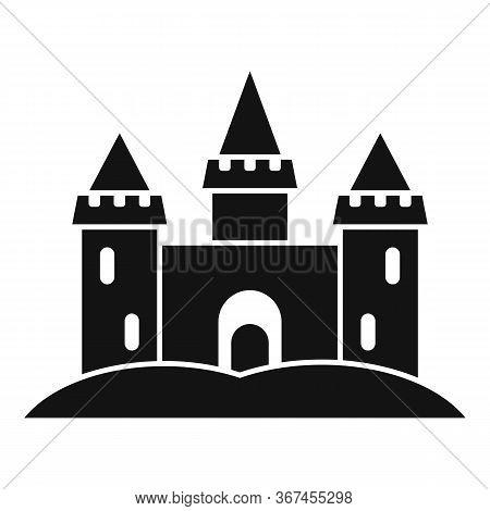 Miniature Sand Castle Icon. Simple Illustration Of Miniature Sand Castle Vector Icon For Web Design