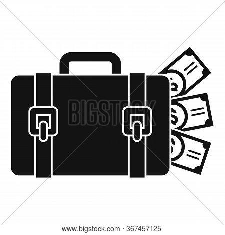 Money Bag Washing Icon. Simple Illustration Of Money Bag Washing Vector Icon For Web Design Isolated