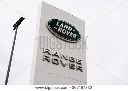 Bordeaux , Aquitaine / France - 10 02 2019 : Sign Land Rover Range Rover Logo Store Dealership