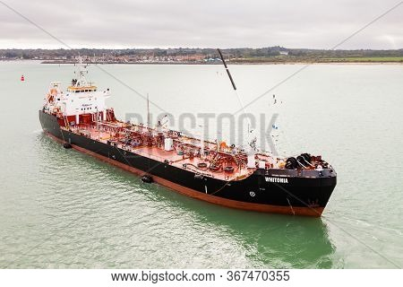 Southampton, England - October 13:  The Oil Products Tanker, Whitonia, Is Pictured In Southampton Wa