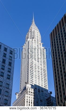 New York City - October 20.  The Chrysler Building Was The Worlds Tallest Structure At The Time Of I