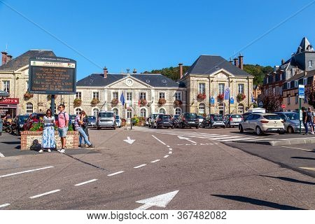 Etretat, France - September 1, 2019: This Is The Town Hall Of The Coastal Norman Town On Maurice Gui