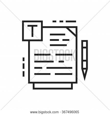 Course Material Black Line Icon. Online Course Learning Exam. Training Programs, Courses And Lecture