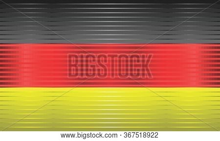 Shiny Flag Of The Germany - Illustration,  Three Dimensional Flag Of Germany