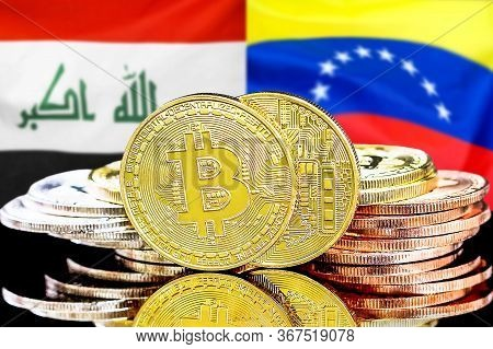 Concept For Investors In Cryptocurrency And Blockchain Technology In The Iraq And Venezuela. Bitcoin