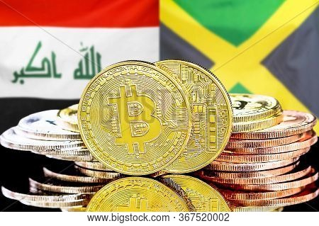 Concept For Investors In Cryptocurrency And Blockchain Technology In The Iraq And Jamaica. Bitcoins